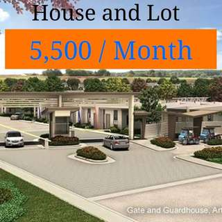 5,500 monthly HOUSE and LOT. No downpayment