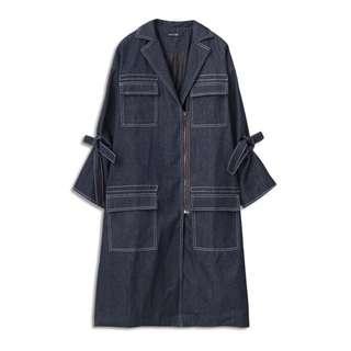 A'ladyKiki聯名系列 車線造型長版大衣#手滑買太多