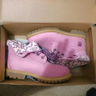 Pink Timberlands Size Au 6 Almost Brand New