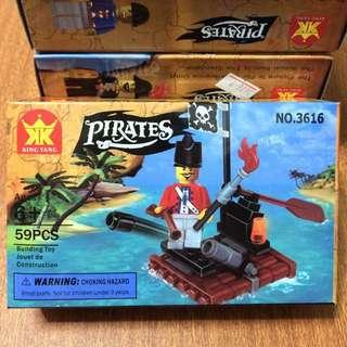 NO.3616 pirates 海盜 人偶 積木 兒童玩具 #銅板好物