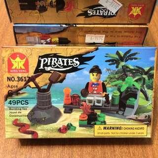 NO.3617 pirates 海盜 人偶 積木 兒童玩具 #銅板好物