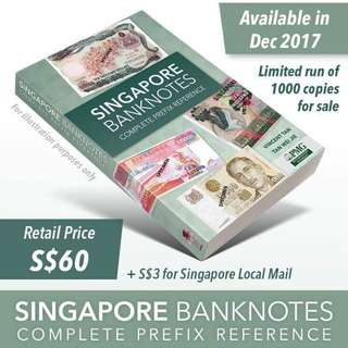 🌟 50 Years Singapore Banknotes complete prefix reference 🌟Limited 1000 copies🌟