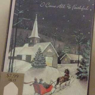 聖誕卡 (一盒16張)
