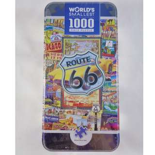 MasterPieces World's Smallest Route 66 1000 Piece Tin Box Jigsaw Puzzle Unique gift collection
