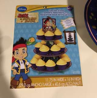 Jake and the Neverland Pirates cupcake stand