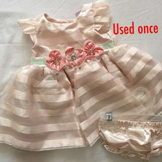 Baby Gown w/ bloomer