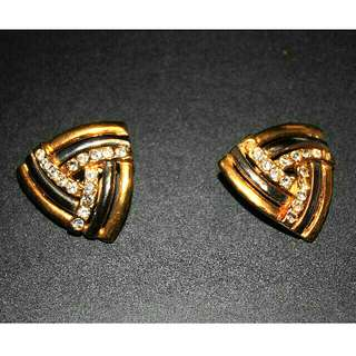 Large Triangular Clip-on Earrings