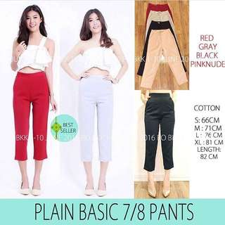Basic white 7/8pants