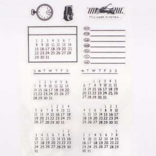 Rubber stamps acrylic - Calendar series