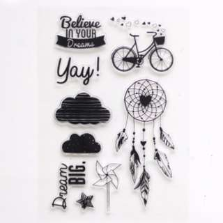 Rubber stamps - words