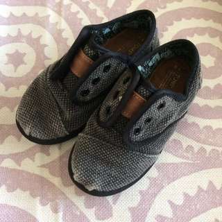 Toms Toddler Cordones Black Rugged Canvas