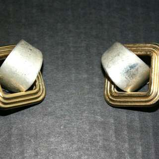 Chunky Vintage Clip On Earrings