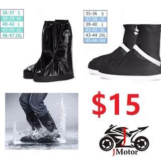Waterproof Rain Shoes Covers Reusable All Seasons Slip-resistant Zipper Rain Boots Overshoes, Men & Women's Shoes Accessories motorcycle riding touring