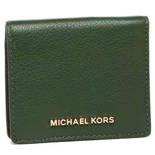 全新正品Michael Kors Jet Set bedford moss carryall card case leather Wallet mk 真皮電話銀包 錢包 卡片套 Purse 女朋友 聖誕禮物 聖誕節 #SELLMY1111