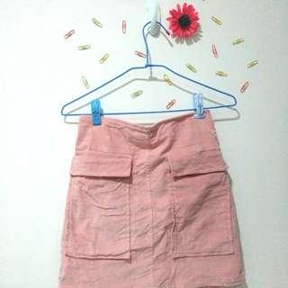 🚚 (衣物兩件免運)短裙 絨材質 大口袋
