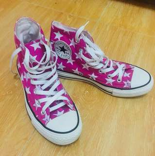 Original Converse Shoes - Pink and White Star