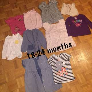 18-24 months girl's clothing lot