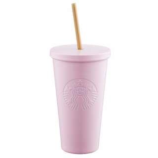 **包郵** 台灣直送 Starbucks 淺粉不鏽鋼TO GO冷水杯 16OZ