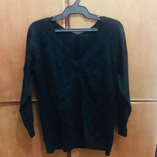 Black Glitter Sweater