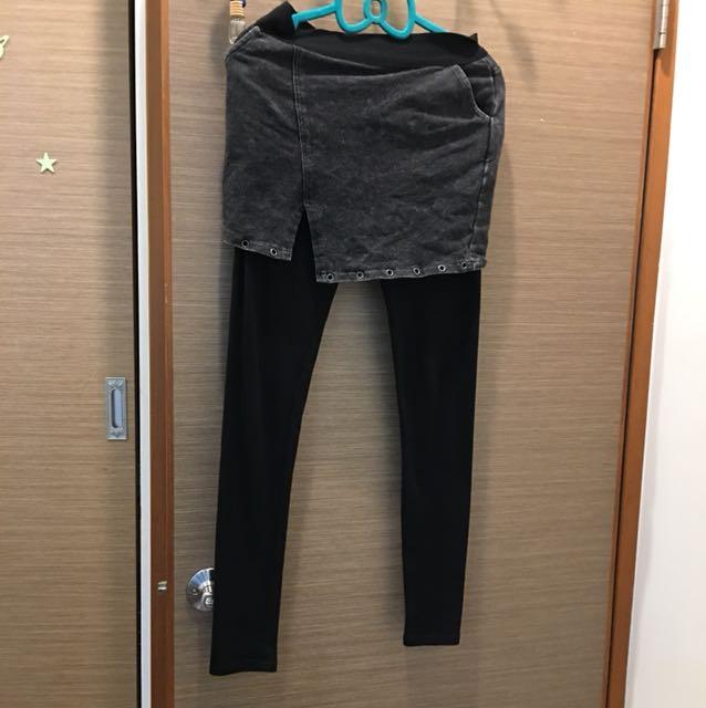假2件 裙褲 配色優