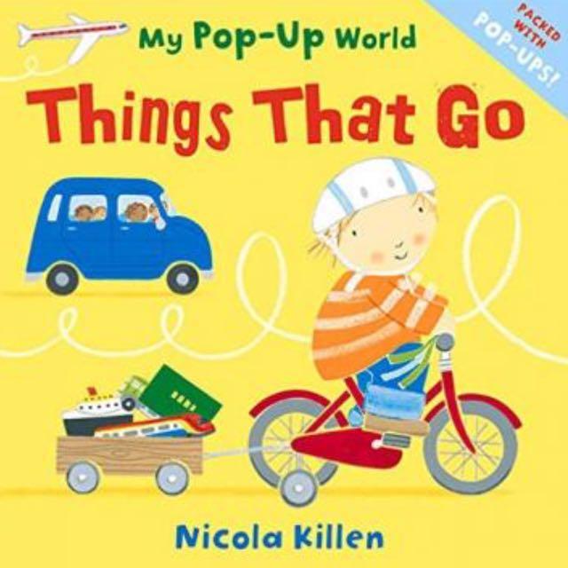 2本幼兒兒童英語書My Pop-Up World: Things That Go 立體操作書(精裝)+My Pop-Up World: Weather 立體操作書(精裝)