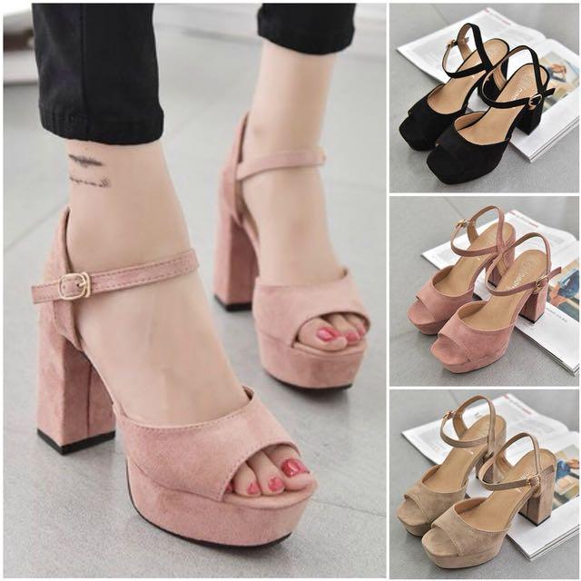 3 colours casual elegance's heels