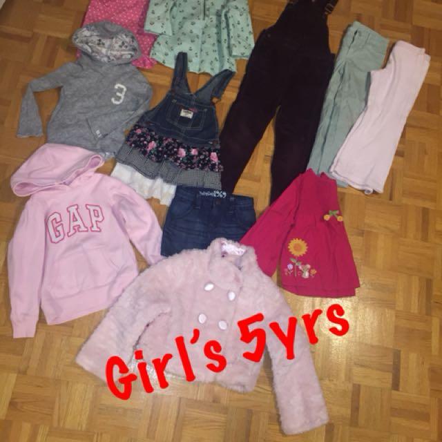 5yrs girl's clothing lot