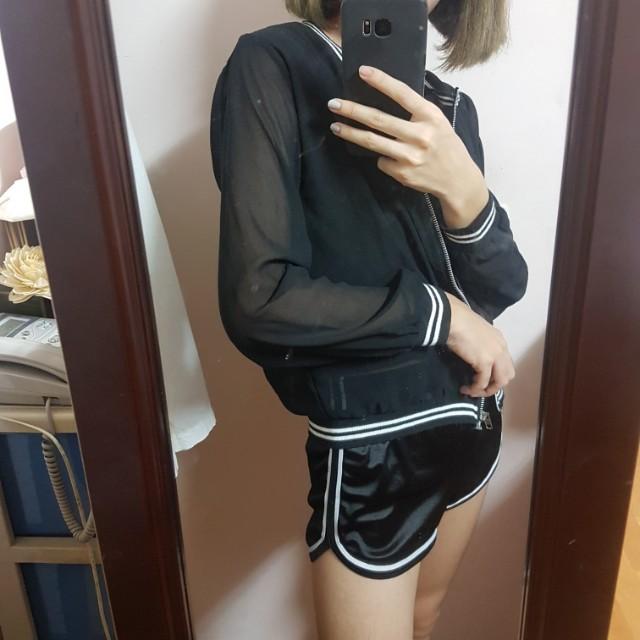 黑色透明外套