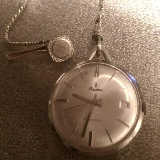 早期瑞士古董機械手動上鍊懷錶