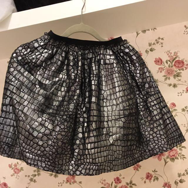 韓版金屬光澤短裙