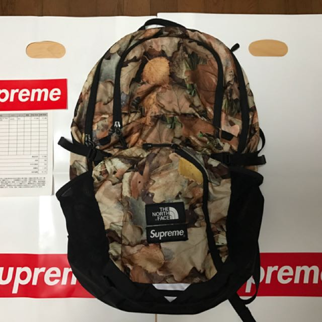 20d81f28b (代購) 16aw Supreme The North Face leaves pocono backpack