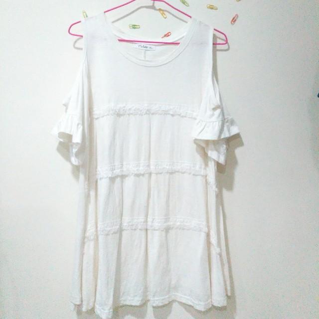 (衣物兩件免運)全白 小洋裝