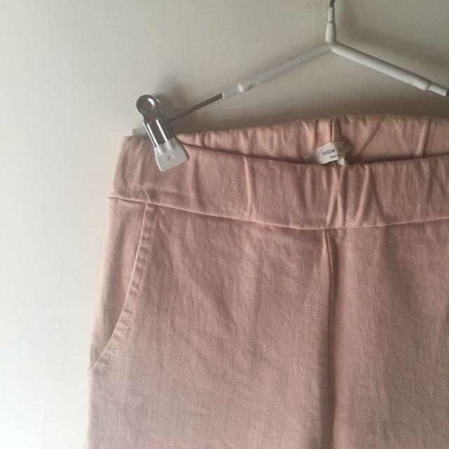 二手衣 🇰🇷 正韓製 嬰兒粉鉛筆褲  #四百不著涼