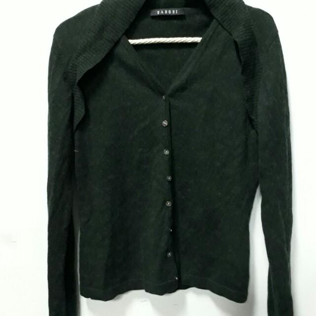 綠色針織外套 上衣 S號