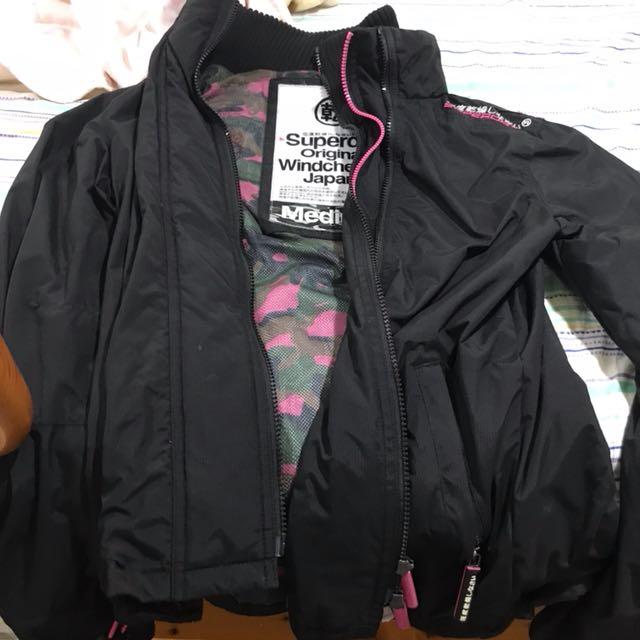二手 極度乾燥 superdry 女款 迷彩 風衣外套