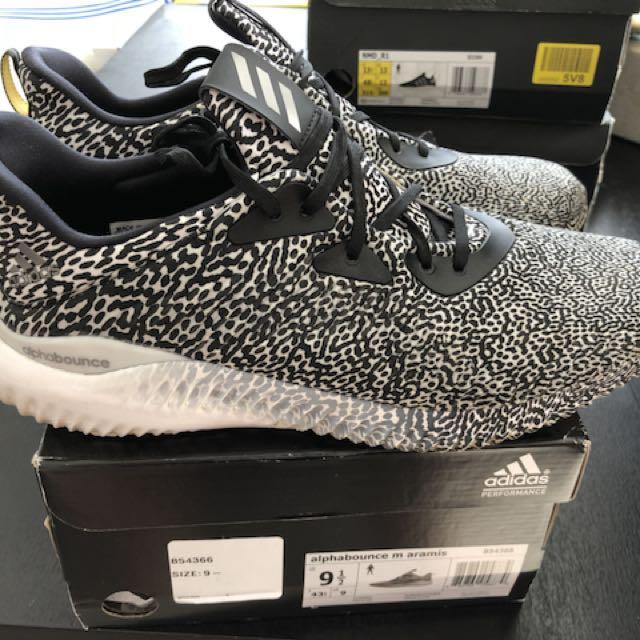 Adidas alpha bounce zebra us 9.5 cheap