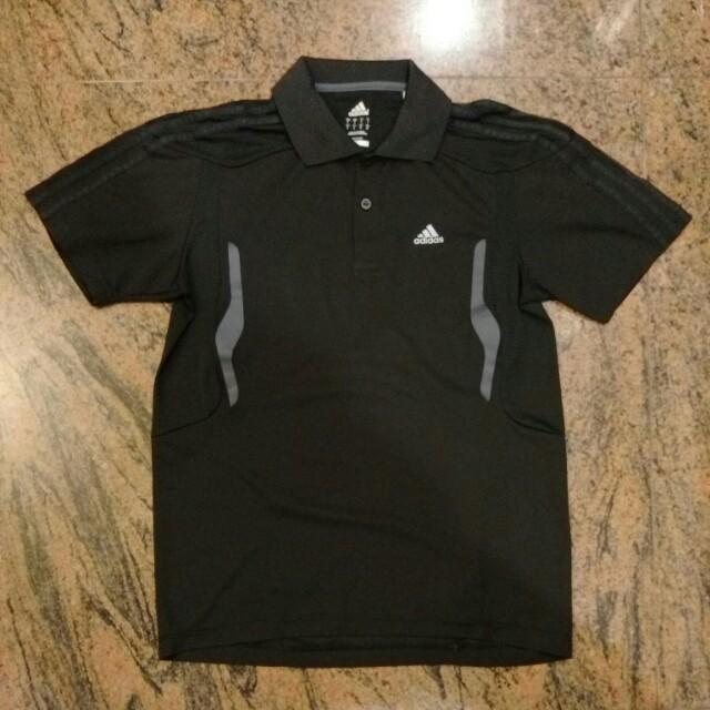 Adidas 黑色運動polo衫.網球