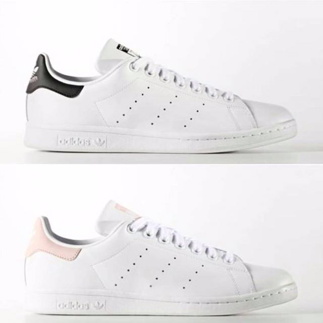 ... cheap adidas stan smith black baby pink womens fashion shoes on  carousell cd4bf a76d9 0e132ad3ef6b9
