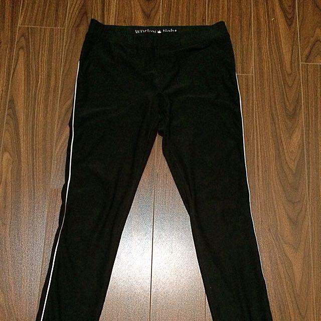 Aerie Medium Workout Pants w/reflectorize lining