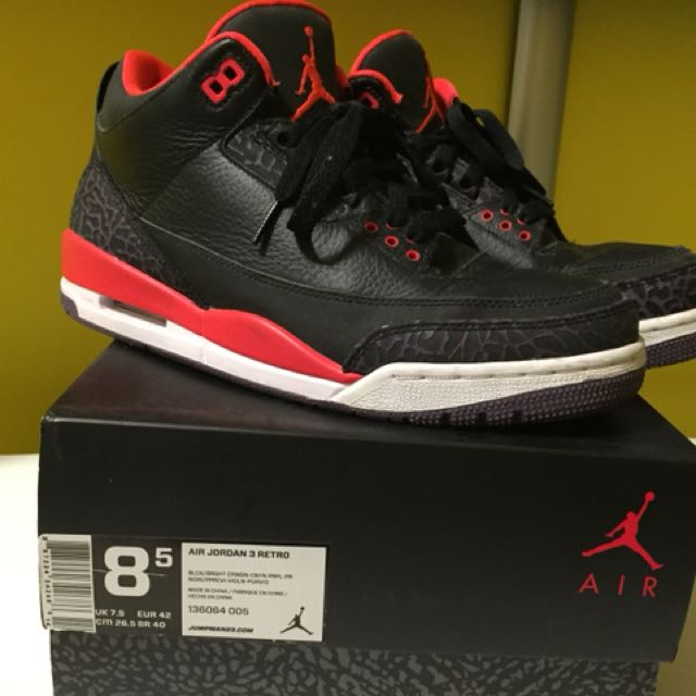 Air Jordan 3 retro us8.5