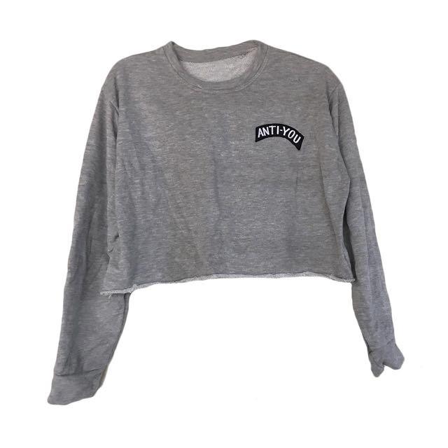 Anti You Gray Crop Top