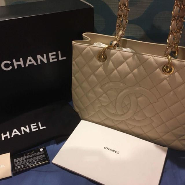 Authentic Chanel GST series 17 Goldware