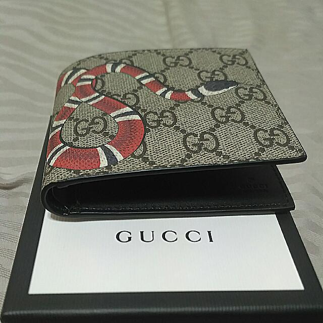 bd334b2d3018 Authentic Gucci Snake Wallet Kingsnake, Men's Fashion, Bags & Wallets on  Carousell