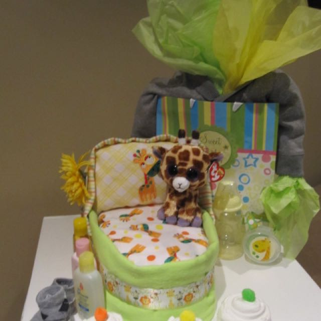 Baby diaper Cake by Tiny Treasures Creations