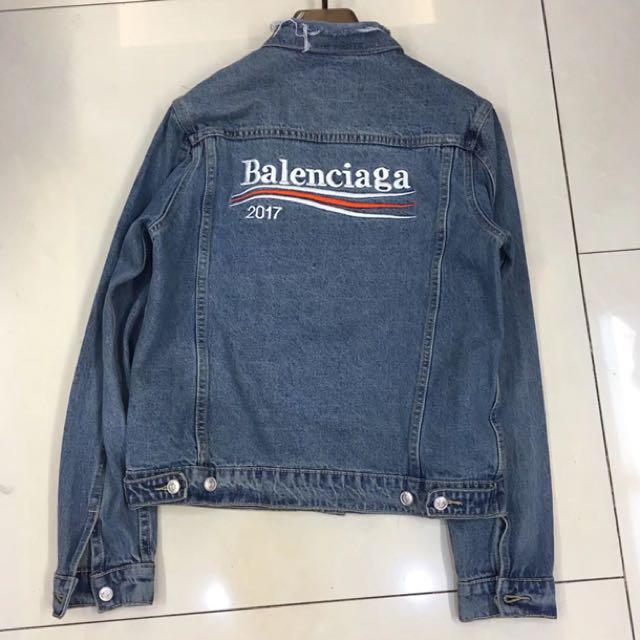 Cash Car Rentals >> Balenciaga Explorer Logo Denim Jacket, Men's Fashion, Clothes on Carousell