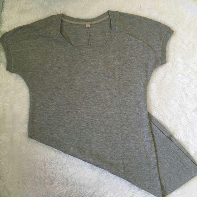 Basic Grey Shirt Dress