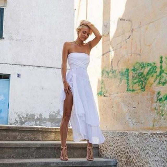 Bec & Bridge white wing dress