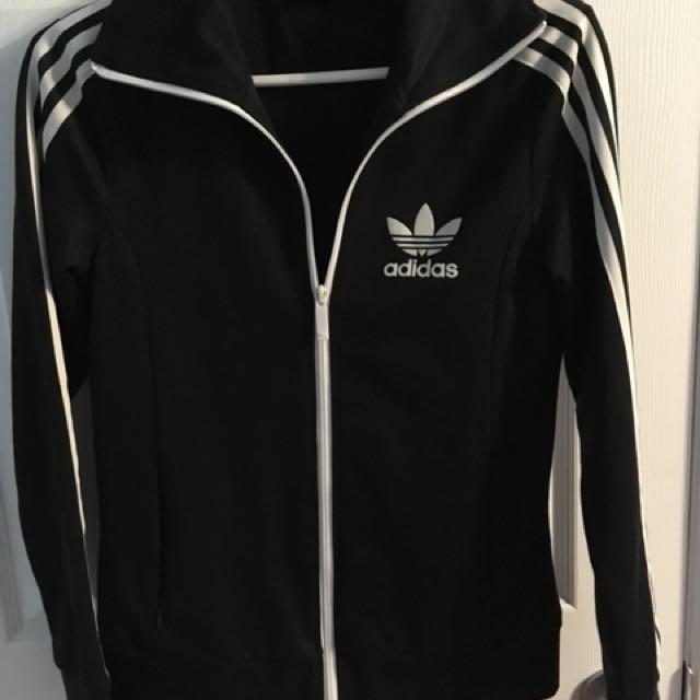 Black Adidas Zipper Top