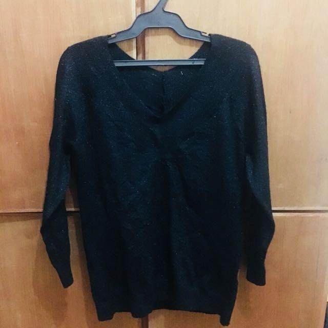 Black Glitter Sweater