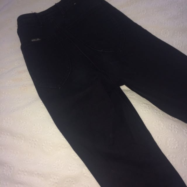 Black High waisted Rollas Jeans